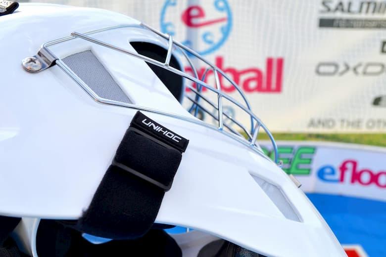 Флорбольный шлем, маска Ремни.